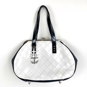Lux De Ville Patent Leather Diamond Stitch Purse
